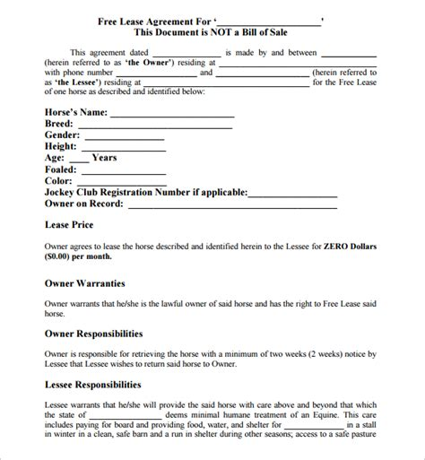 free lease agreement template no credit card 10 lease agreement templates sle templates