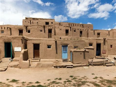 Adobe Pueblo Houses by Pueblo De Taos World Heritage Site National Geographic