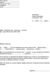 Modele De Lettre Administrative Pour Reclamation Mod 232 Le De Lettre R 233 Clamation Retard Sncf Ouigo