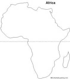 Blank Outline Of Africa by Outline Map Africa Enchantedlearning