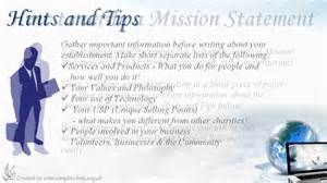 how to write non profit mission statements