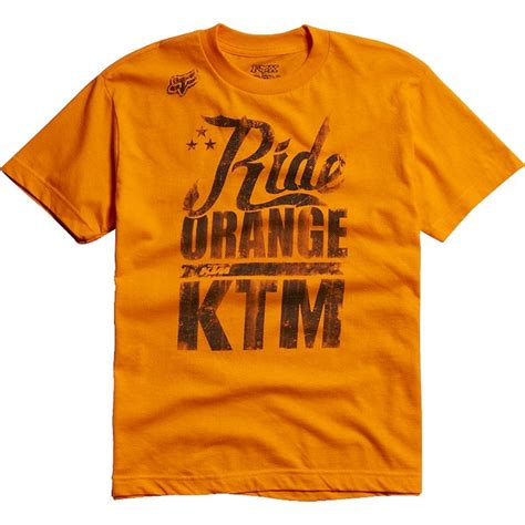 Ktm Tshirts Fox Racing Boys Ktm Ride Orange T Shirt Shirts