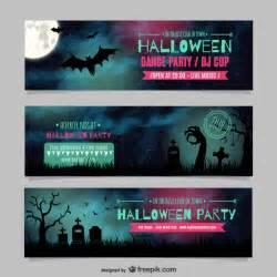 halloween dance party banner templates vector free download