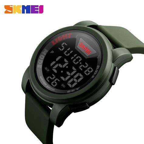 Skmei Trendy Led Dg1218 skmei jam tangan trendy digital pria dg1218 army green