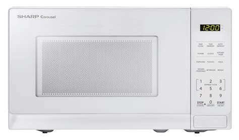 Microwave Oven Merk Sharp smc0710bw 0 7 cu ft white carousel microwave sharp