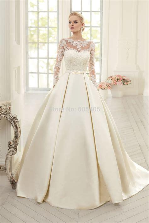 simple et 233 l 233 gant manches longues robes de mari 233 e avec