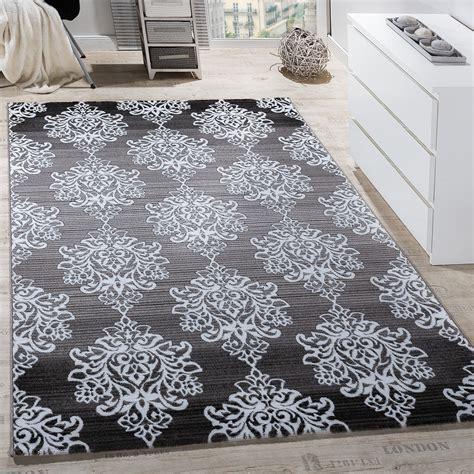 teppiche ornamente teppich wohnzimmer floral muster abstrakt grau design teppiche