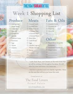 6 Day Detox Drop Shopping List by 1000 Images About Sugar Buster Diet On