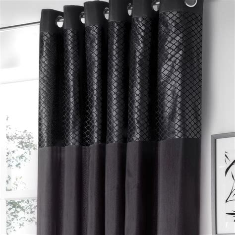 black curtains eyelet savoy black luxury eyelet curtains eyelet curtains
