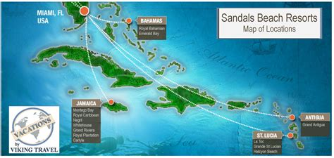 sandals montego bay map popular 155 list sandals resorts locations map