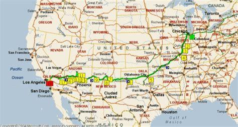 grand mappa geografica programma di viaggio in viaggio sulla route 66