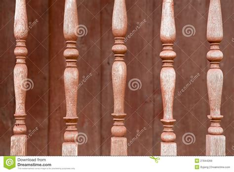 Turned Balusters The Wood Balusters Royalty Free Stock Images Image