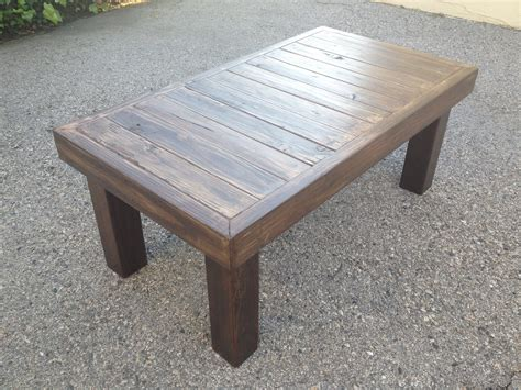 wooden coffee table instructions diy  plans