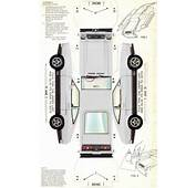 White 1974 Mach 1 Paper Car Ford Mustang II Hatchback