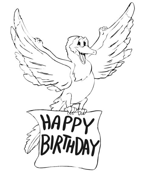 color for happy happy birthday cards to color az coloring pages