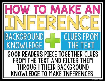 free inference posters by presto plans | teachers pay teachers
