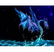 This Is The Fantastic Water Dragon Blue Purple Wallpaper Background