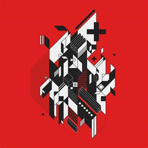 imagenes en blanco rojo y negro dise 241 o abstracto en blanco y negro sobre fondo rojo