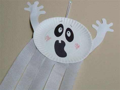 ghost crafts for busy crafting how to make a paper plate ghost