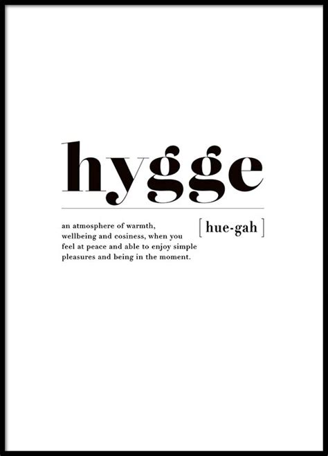 hygge beginnerâ s guide to learn and understand hygge poster