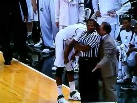 ted referee izzo gets blocked by ted big 10 ref
