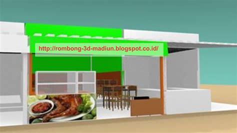 design etalase warung makan rombong grobak gerobak 3d desain interior warung