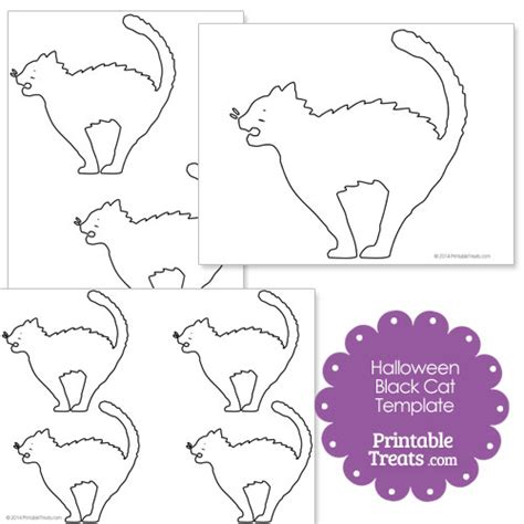 black cat template printable black cat printables images