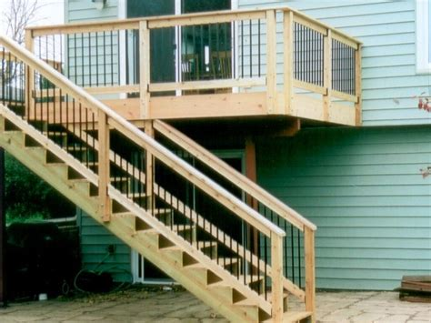 25 best ideas about deck stair railing on