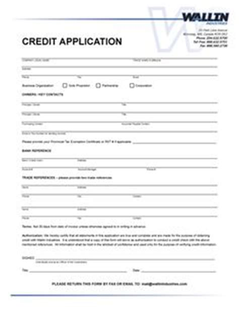 Business Credit Application Form Doc Consumer Credit Application Form Free Printable Business And Sles