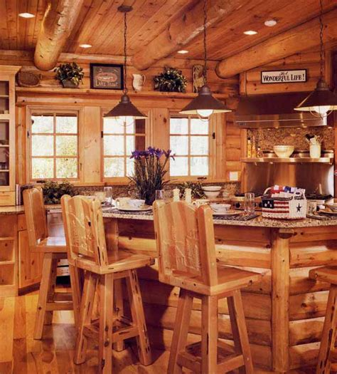 Tops Fine Art lodge bar stools cabin kitchens solid wood kitchen