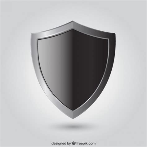 shield psd template black shield vector free