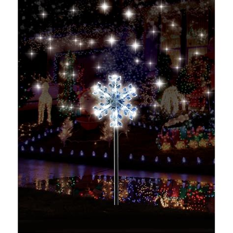 Arlec Solar Snowflake Led Path Lights 4pk Sku 04351732 Solar Snowflake Lights