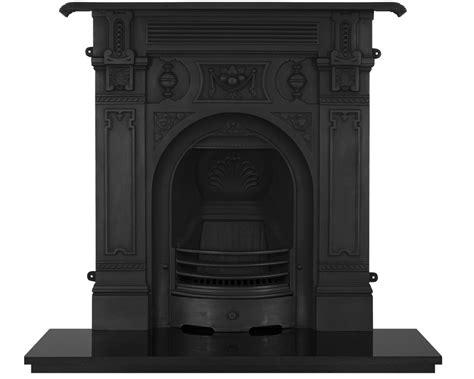 victorian large cast iron combination fireplaces carron