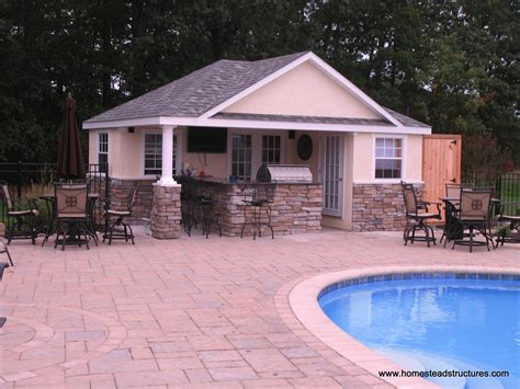 Shed Roof Home Plans pool houses homestead structures