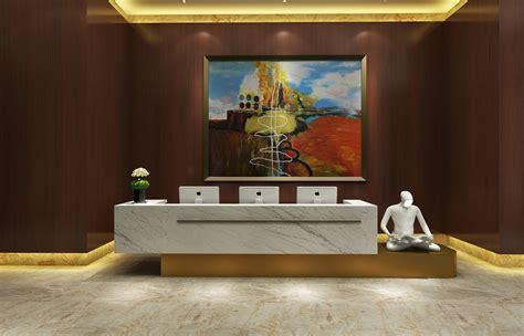 model hotel reception area cgtrader