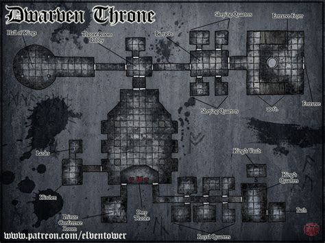 Kitchen Layout Guide map 77 dwarven kingdom elven tower