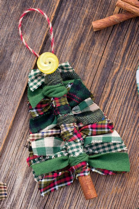 make a rag strip christmas tree how to make scrap fabric tree ornaments