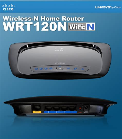 Router Linksys Wrt120n linksys by cisco wrt120n wireless n home router 802 11b g n