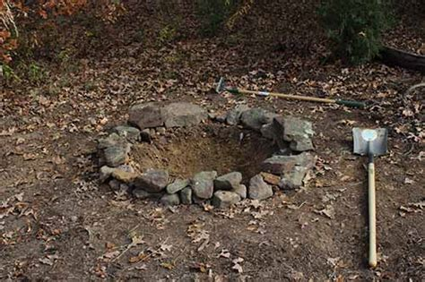 how to dig a fire pit in your backyard how to build a secret backyard fire pit the art of manliness