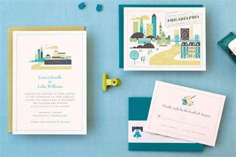 wedding invitations city philadelphia hellolucky wedding invitations alex hurley