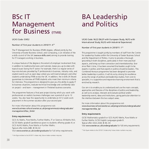 Of Exeter Mba Requirements by Undergraduate Brochure Of Exeter Business School