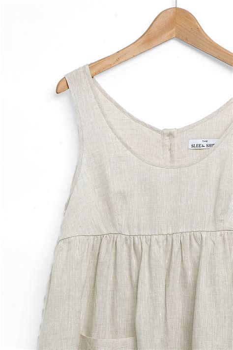 Blouse Babydol Katun Linen Import Jumbo the sleep shirt babydoll nightie oatmeal linen garmentory