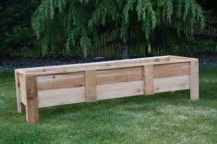 cedar deck planters garden boxes made in the usa grow