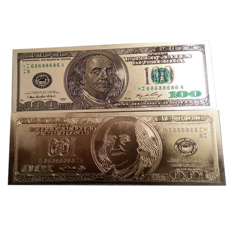 Who Makes Paper Money - 24k gold banknotes money bill 100 dollars world