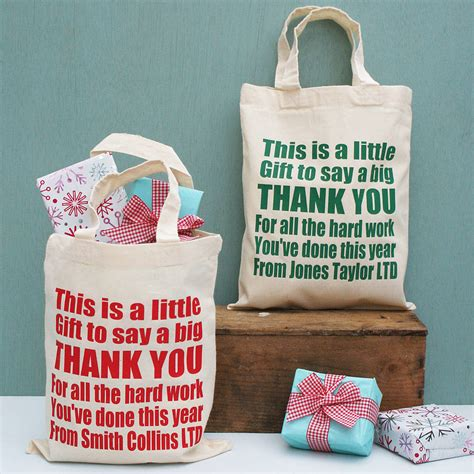 personalised corporate thank you gift bags by sparks