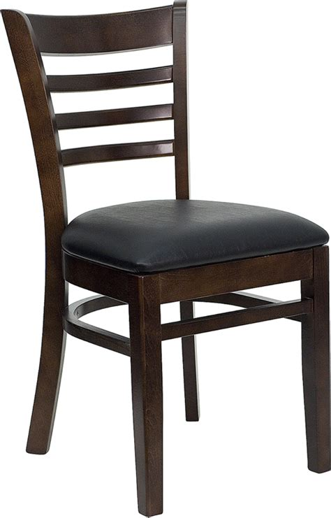Commercial Chairs by Hercules Commercial Walnut Wooden Ladder Back Restaurant