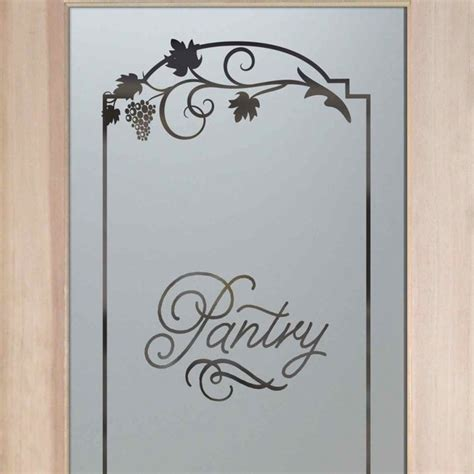 Glass Etching Designs For Kitchen Pantry Doors Frosted Etched Glass Designs Eclectic Pantry And Cabinet Organizers Other