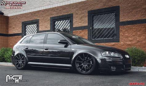 audi a3 wheel size audi a3 niche essen m147 wheels matte black