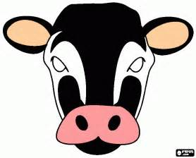 cow mask coloring page printable cow mask