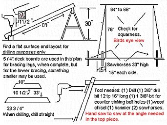a frame plans free woodwork a frame porch swing plans pdf plans